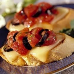 Photo of Tomato Crostini with Fontina Cheese by Mealtime.org