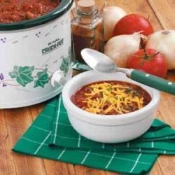 Photo of Zippy Slow-Cooked Chili by Travis Skrock