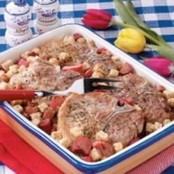 Photo of Rhubarb Pork Chop Bake by Edie  DeSpain
