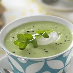 Creamy Edamame Arugula Soup Recipe