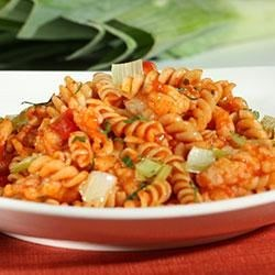 Mini Rotini with Spicy Shrimp Ragout