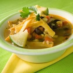 Easy Vegetable Tortilla Soup Recipe