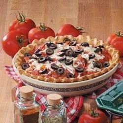 Photo of Pepperoni Pizza Quiche by Debbie White
