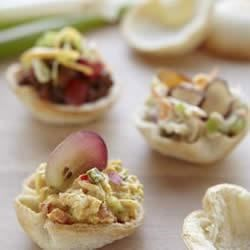 Wonder Bread Curried Chicken Salad Appetizer Croustades Recipe