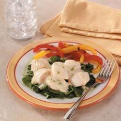 Photo of Scallops Florentine by Taste of Home Test Kitchen