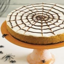 Spider Web Pumpkin Cheesecake Recipe