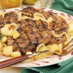 Photo of Pork Chops with Onions and Apples by Lou Ann Marques-Bambera