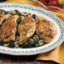 Photo of Grilled Chicken Over Spinach by Michelle  Krzmarzick