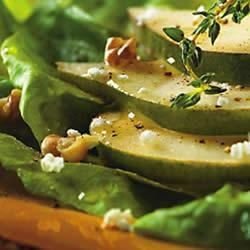 Green Apple Salad with Toasted Almonds, Shaved Cheese and Apple Cider Vinaigrette