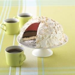 Triple-Layered Ice Cream Torte Recipe