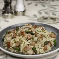 Asparagus and Sausage Risotto