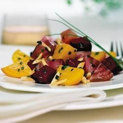 Beet Salad with Almonds and Chives Recipe