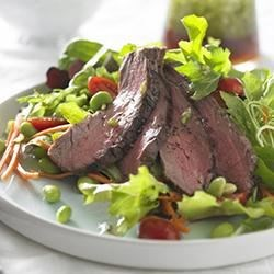 Beef Salad with Ginger Soy Dressing
