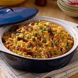 Photo of Turkey Paella with Lemon-Smoked Paprika Aioli by Hellmann's® or Best Foods® Real Mayonnaise