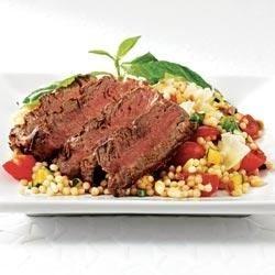 Filet with Farro Salad Recipe