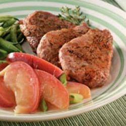 Photo of Pork Medallions with Sauteed Apples by Clara  Coulston
