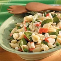 Photo of Pea 'n' Crab Pasta Salad by Taste of Home Test Kitchen