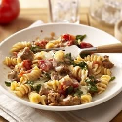 Kraft Natural(R) Tomato and Spinach Pasta Toss Recipe