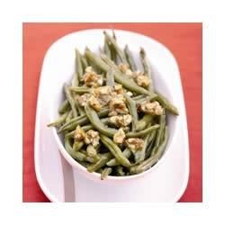 Roasted Green Beans with Almond Brittle Recipe