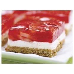 Photo of Strawberry Pretzel Squares by JELL-O