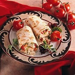 Warm Chicken Caesar Wraps Recipe