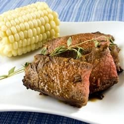 Rib-Eye Steaks with Rosemary and Garlic