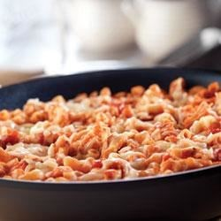 Quick Skillet Chicken and Macaroni Parmesan Recipe