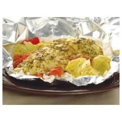 Foil-Pack Chicken and Artichoke Dinner Recipe