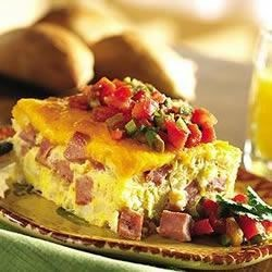 Ham and Cheese Baked Frittata Recipe
