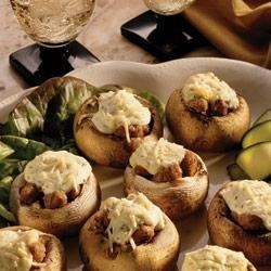Garlic and Sausage Stuffed Mushrooms Recipe