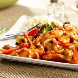 Picante Peanut Chicken Recipe