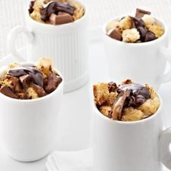 Caramel Dark Chocolate Mini Bread Puddings Recipe
