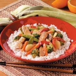 Photo of Orange Pork Stir Fry by Kathleen Romaniuk