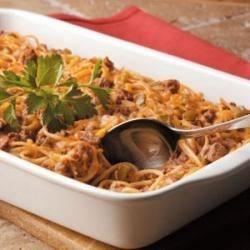 Photo of Cheesy Spaghetti Bake by Sue  Braunschweig