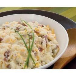 Healthy Living Cheesy Smashed Potatoes Recipe