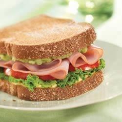 Ham and Guacamole Sandwiches Recipe