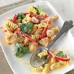 Photo of Creamy Chicken with Broccoli and Red Pepper Pasta by PHILADELPHIA Cooking Creme