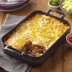 Roasted Turkey Enchilada Bake