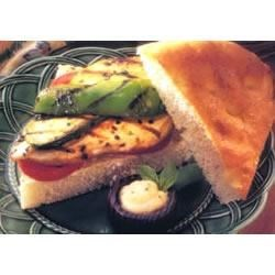 Basil Turkey and Vegetables on Focaccia Recipe