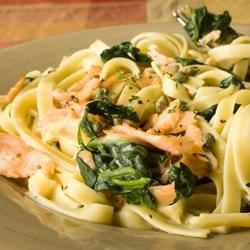 Photo of Salmon Fettuccine with Spinach by Pam Anderson