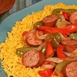 Photo of Spicy Yellow Rice and Smoked Sausage by Hillshire Farm® Brand
