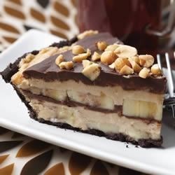 Frozen Chocolate Peanut Butter Banana Pie Recipe