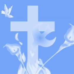 Peace, Cross, Doves and Easter Lily