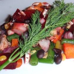 Russian Vinaigrette Beet Salad