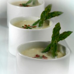 Potato Soup with Bacon and Asparagus Recipe