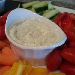 Mom's Famous Raw Vegetable Dip Recipe