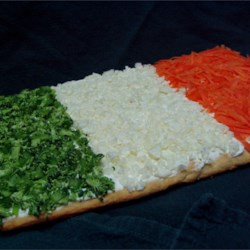 Irish Flag Cold Veggie Pizza