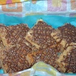 Chocolate Lattice Pecan Bars