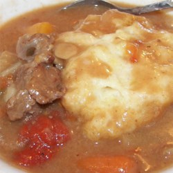 Marilyn's Stew and Dumplings