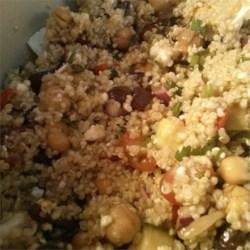 Mediterranean Quinoa Salad assembled
